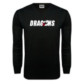 Black Long Sleeve TShirt-Dragons