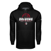Under Armour Black Performance Sweats Team Hoodie-Volleyball Design