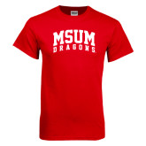 Red T Shirt-MSUM Dragons
