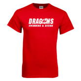 Red T Shirt-Swimming & Diving