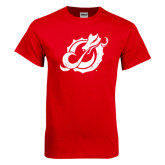 Red T Shirt-Dragon Mark Distressed