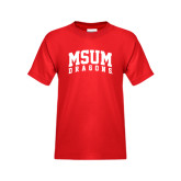 Youth Red T Shirt-MSUM Dragons