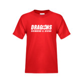 Youth Red T Shirt-Swimming & Diving