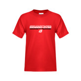 Youth Red T Shirt-Swimming & Diving Design