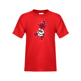 Youth Red T Shirt-Scorch Squad Youth Mark