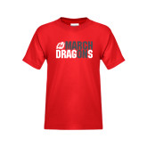 Youth Red T Shirt-March On Dragons