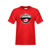 Youth Red T Shirt-2017 Northern Sun Intercollegiate Conference Womens Champions