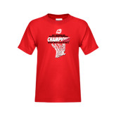 Youth Red T Shirt-2017 Northern Sun Intercollegiate Conference Mens Champions