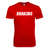 Next Level SoftStyle Red T Shirt-Dragons