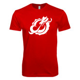 Next Level SoftStyle Red T Shirt-Dragon Mark