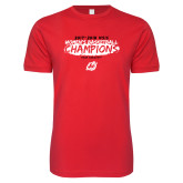 Next Level SoftStyle Red T Shirt-2018 Womens Basketball Champions