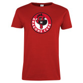 Ladies Red T Shirt-Dragons Care