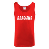 Red Tank Top-Dragons