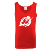 Red Tank Top-Dragon Mark