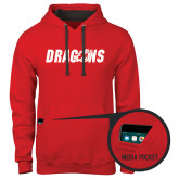 Contemporary Sofspun Red Hoodie-Dragons