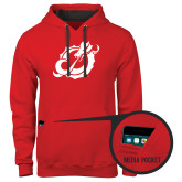 Contemporary Sofspun Red Hoodie-Dragon Mark