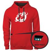Contemporary Sofspun Red Hoodie-Dragon Mark