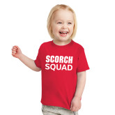 Toddler Red T Shirt-Scorch Squad Text
