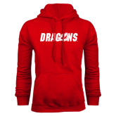 Red Fleece Hoodie-Dragons