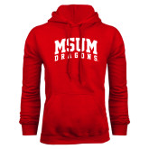 Red Fleece Hoodie-MSUM Dragons