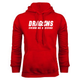 Red Fleece Hoodie-Swimming & Diving