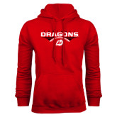 Red Fleece Hoodie-Football Design