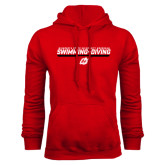 Red Fleece Hoodie-Swimming & Diving Design