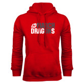 Red Fleece Hoodie-March On Dragons