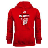 Red Fleece Hoodie-2017 Northern Sun Intercollegiate Conference Mens Champions