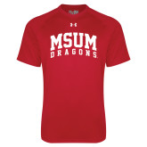Under Armour Red Tech Tee-MSUM Dragons