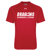Under Armour Red Tech Tee-Swimming & Diving