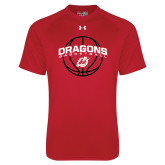 Under Armour Red Tech Tee-Basketball Design