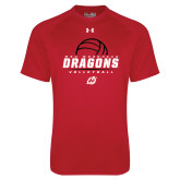 Under Armour Red Tech Tee-Volleyball Design