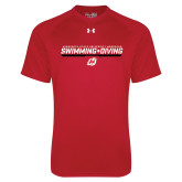 Under Armour Red Tech Tee-Swimming & Diving Design