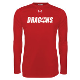 Under Armour Red Long Sleeve Tech Tee-Dragons