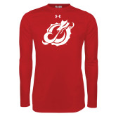 Under Armour Red Long Sleeve Tech Tee-Dragon Mark