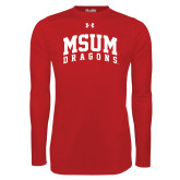 Under Armour Red Long Sleeve Tech Tee-MSUM Dragons