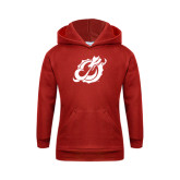 Youth Red Fleece Hoodie-Dragon Mark