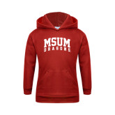 Youth Red Fleece Hoodie-MSUM Dragons
