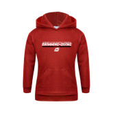 Youth Red Fleece Hoodie-Swimming & Diving Design