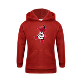 Youth Red Fleece Hoodie-Scorch Squad Youth Mark
