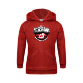 Youth Red Fleece Hoodie-2017 Northern Sun Intercollegiate Conference Womens Champions