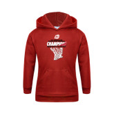 Youth Red Fleece Hoodie-2017 Northern Sun Intercollegiate Conference Mens Champions