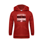 Youth Red Fleece Hoodie-2017 Northern Sun Intercollegiate Conference Men and Women Champions