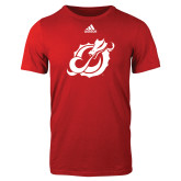 Adidas Red Logo T Shirt-Dragon Mark