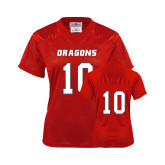 Ladies Red Replica Football Jersey-#10