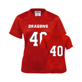 Ladies Red Replica Football Jersey-#40