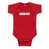 Red Infant Onesie-Dragons