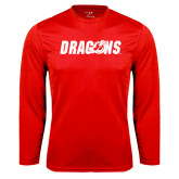 Performance Red Longsleeve Shirt-Dragons