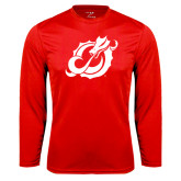 Performance Red Longsleeve Shirt-Dragon Mark